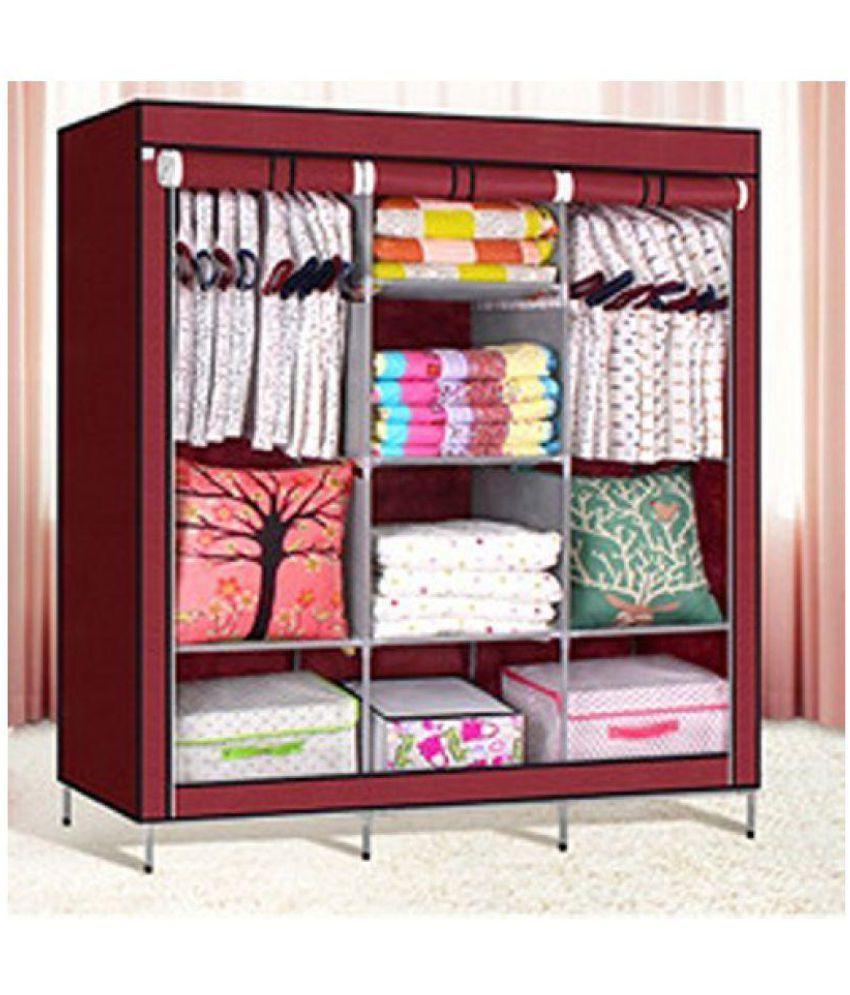SS Kripa Fancy And Portable Foldable Closet Wardrobe Cabinet Portable  Multipurpose Clothes Closet Portable Wardrobe Storage ...