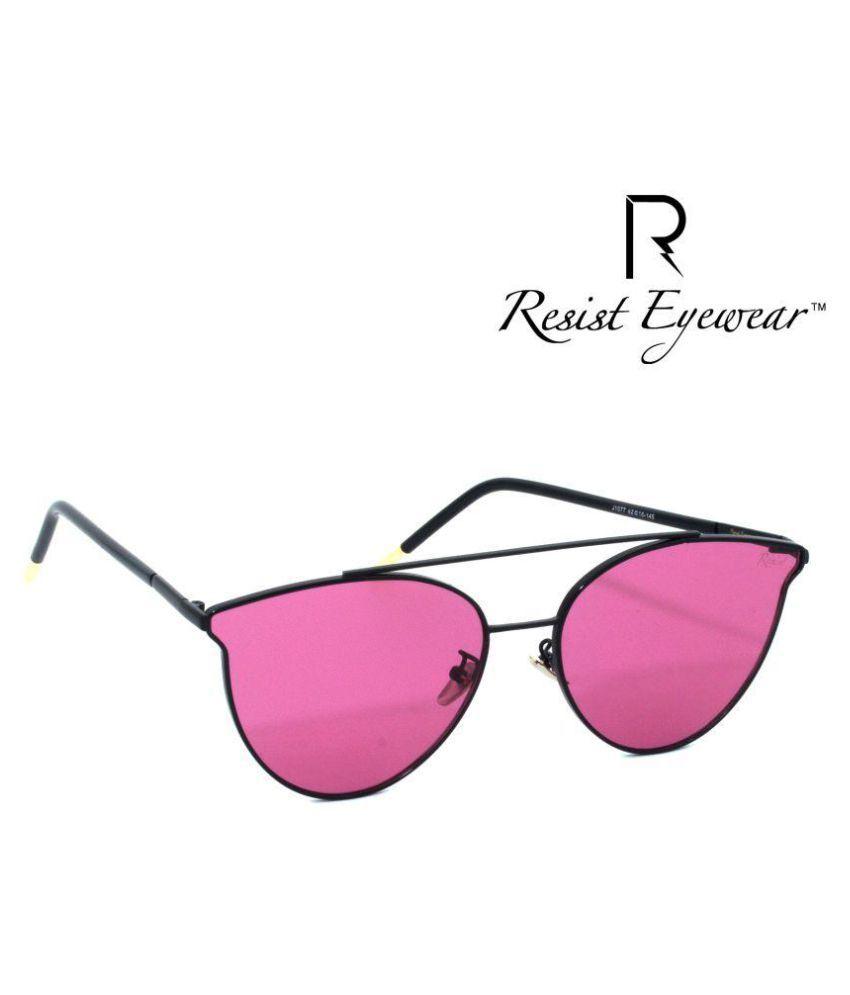 RESIST Pink Cat Eye Sunglasses ( RE-CANDY EYES-02 )