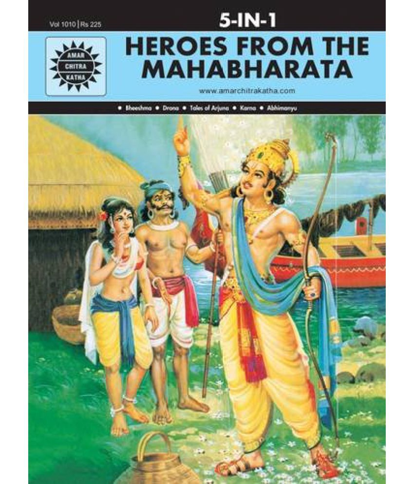 5 in 1 Heroes From the Mahabharata Amar Chitra Katha...