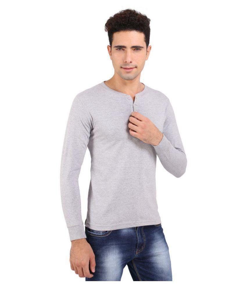 Attabouy Grey Henley T-Shirt