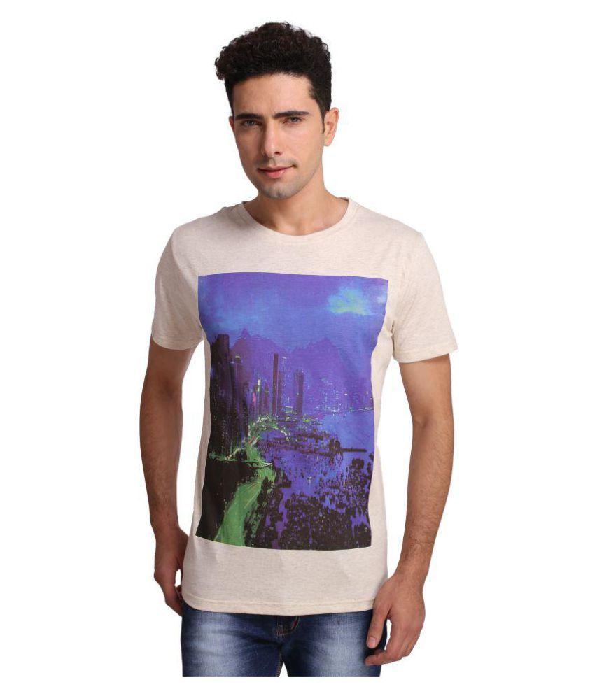 Attabouy Beige Round T-Shirt
