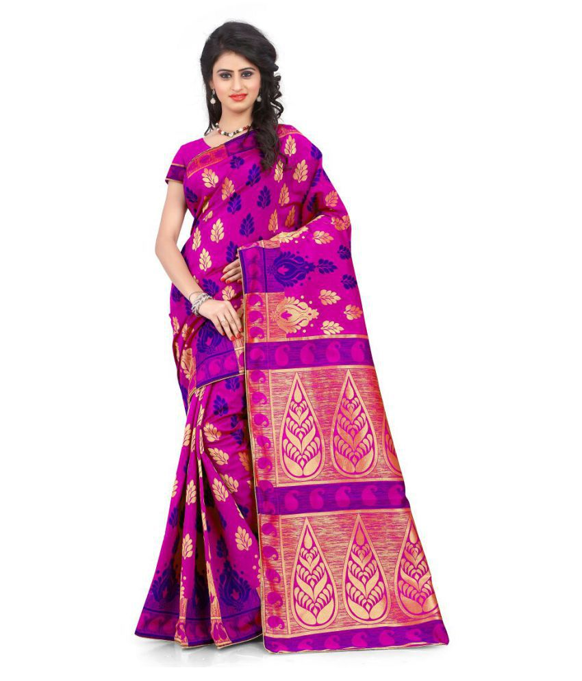 IndoPrimo Multicoloured Art Silk Saree