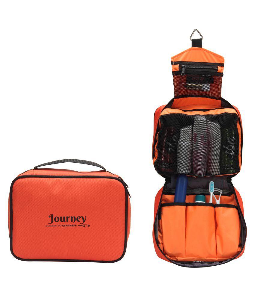 a91ea1de978e TriAge Orange Foldable Hanging Travel Toiletry Kit - Buy TriAge ...