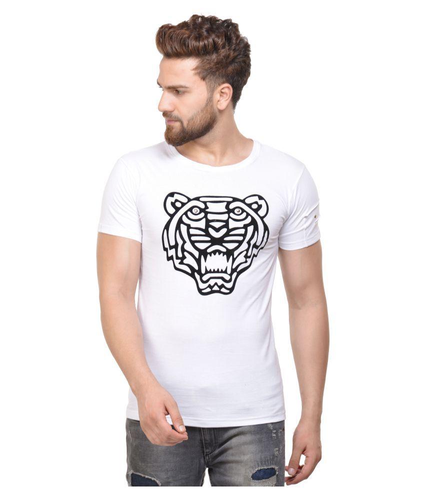 ACOMHARC INC White Round T-Shirt
