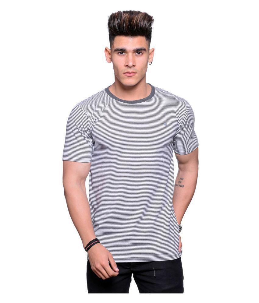 Illusion Grey Round T-Shirt