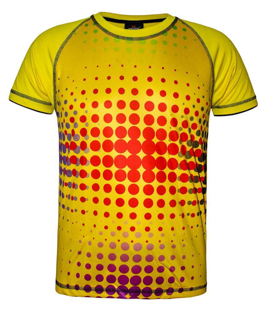 Kothari Yellow Polyester T-Shirt Single Pack