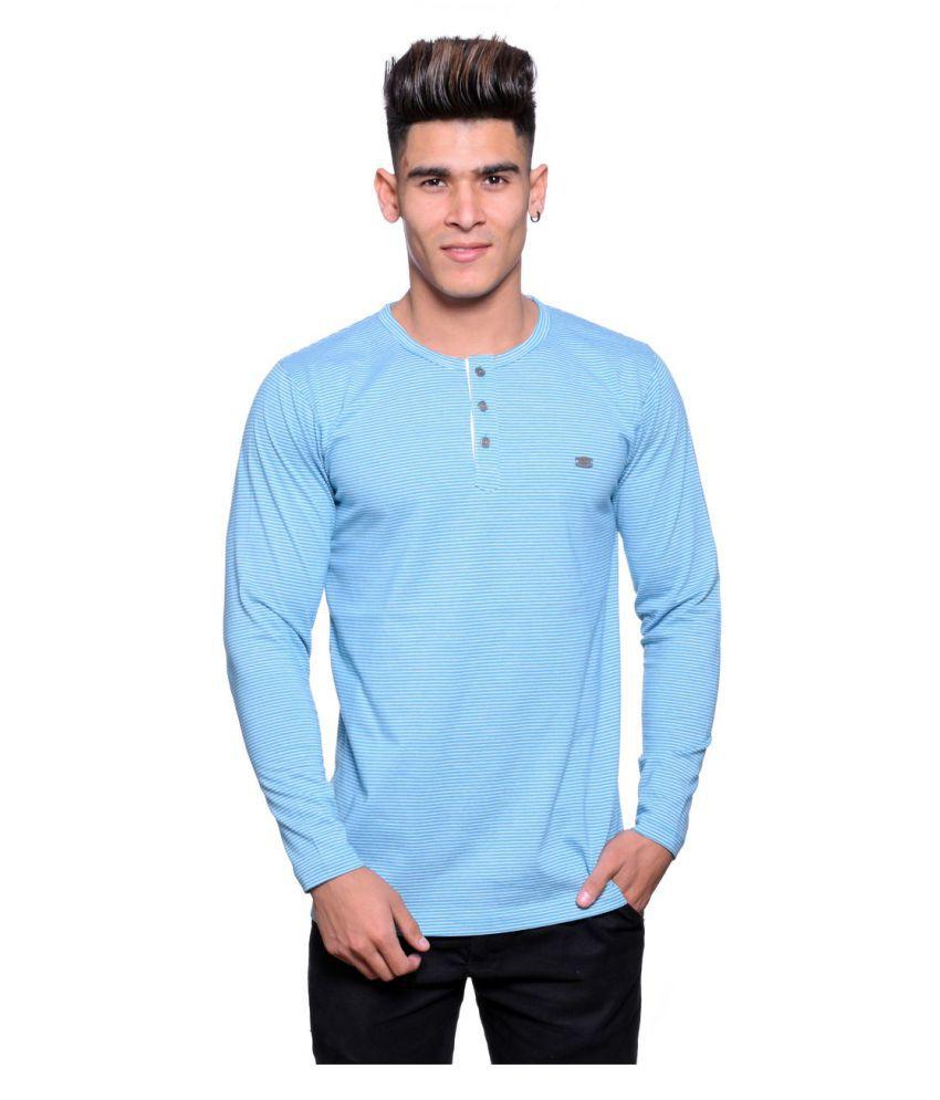 Illusion Blue Round T-Shirt