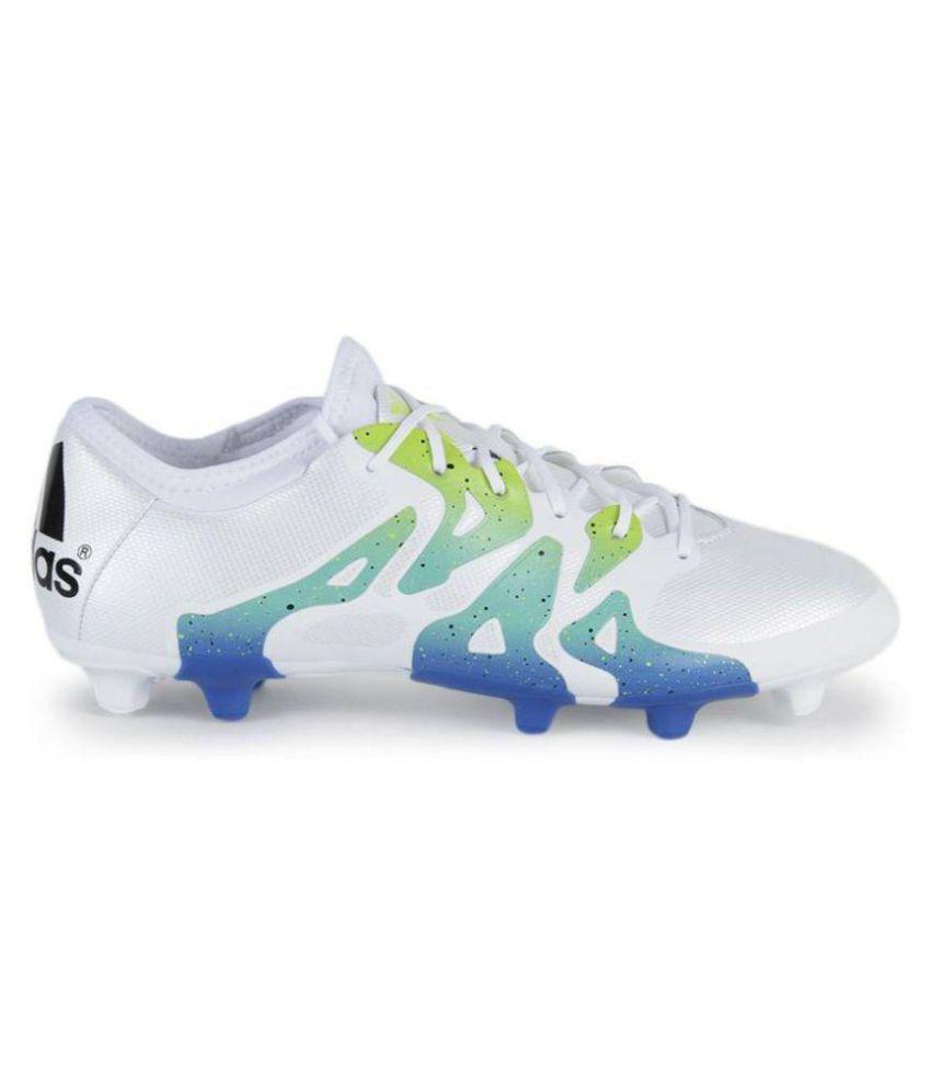 online store 60fd1 e0fdc Adidas X 15.2 FG/AG Men White Football Shoes