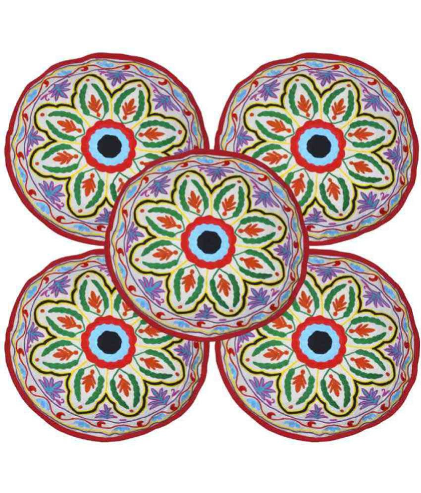 Lal Haveli Set of 5 Cotton Cushion Covers 45X45 cm (18X18)