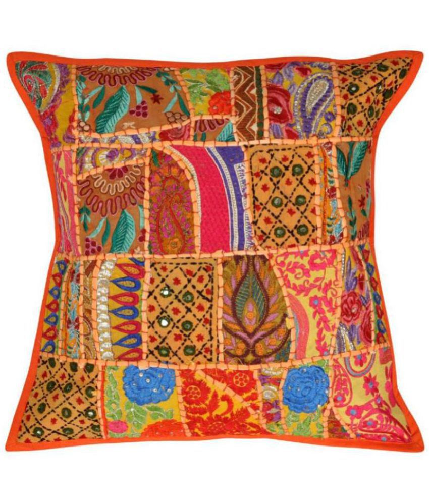 Lal Haveli Single Cotton Cushion Covers 45X45 cm (18X18)