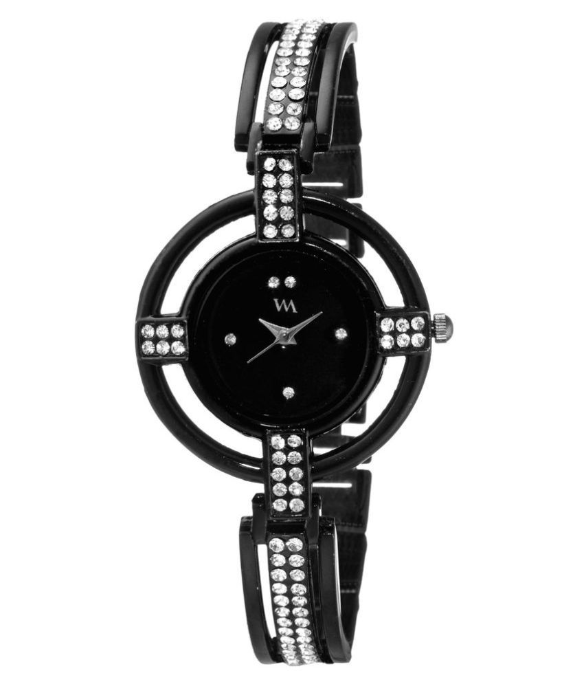 1e4c03c6132 Watch Me Black Dial Black Stainless Steel Strap Analog watch for Girls  WMAL-131twm Price in India  Buy Watch Me Black Dial Black Stainless Steel  Strap ...