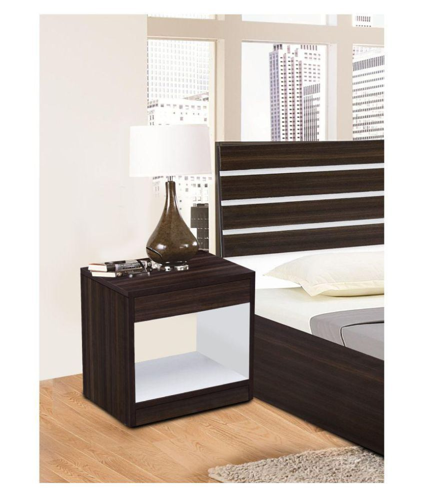 Auspicious Home Toshima Side Table in Wenge Color