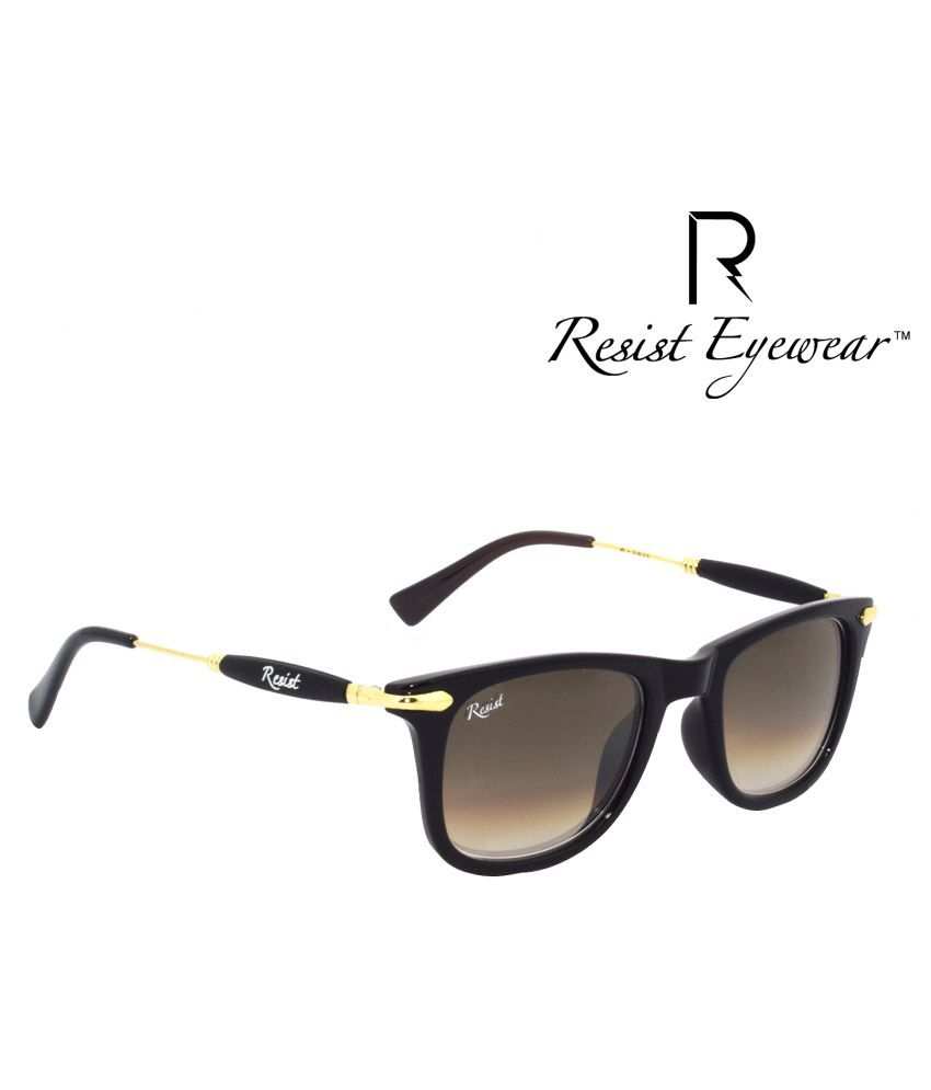 Resist Brown Wayfarer Sunglasses ( RE-GW-G03 )