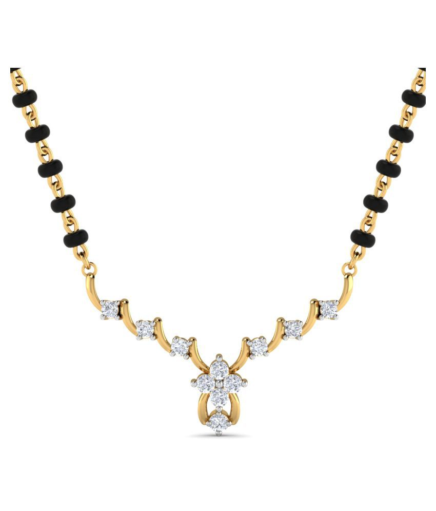 Dishis Designer Jewellery 18k Gold Diamond Mangalsutra