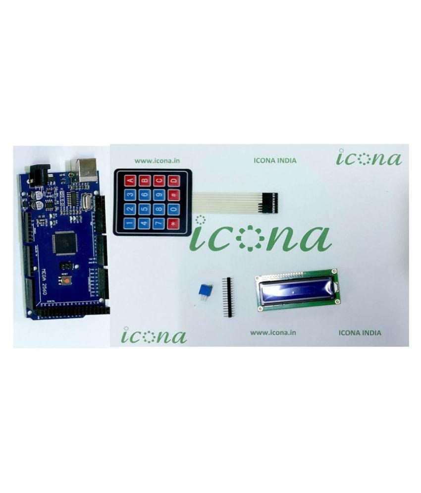 ICONA Arduino kit with LCD 16x02,Mem  keypad and Potentiometer (KIT-I02-003)