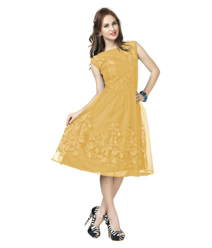 757bde91b934 Elevate Women Net Fit And Flare Dress - Buy Elevate Women Net Fit And Flare Dress  Online at Best Prices in India on Snapdeal