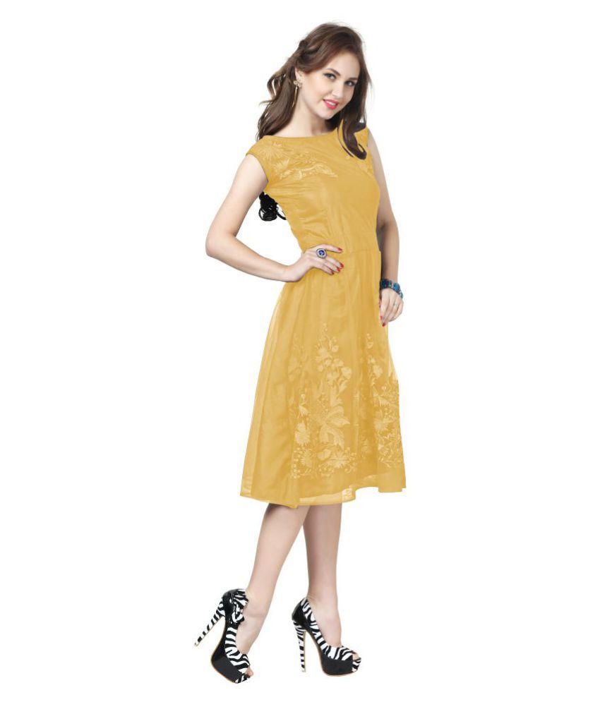 Elevate Women Net Fit And Flare Dress Buy Elevate Women