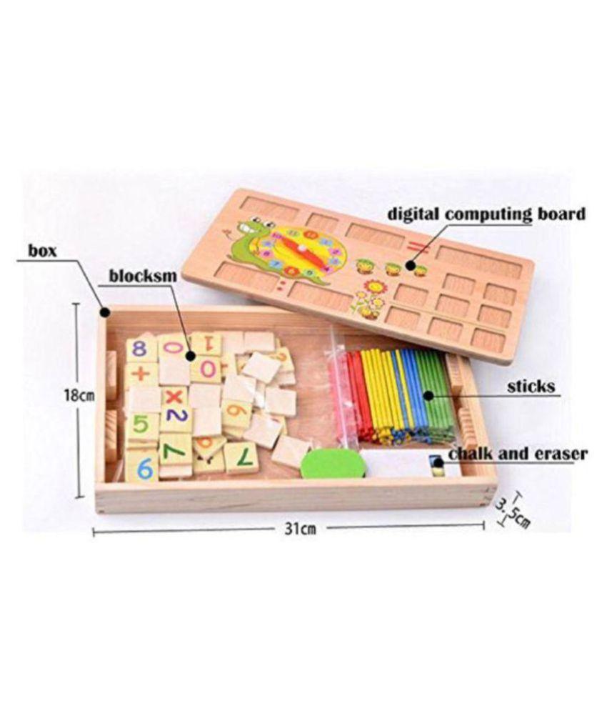 2 in 1 Multi Functional Educational Wooden Digital ...