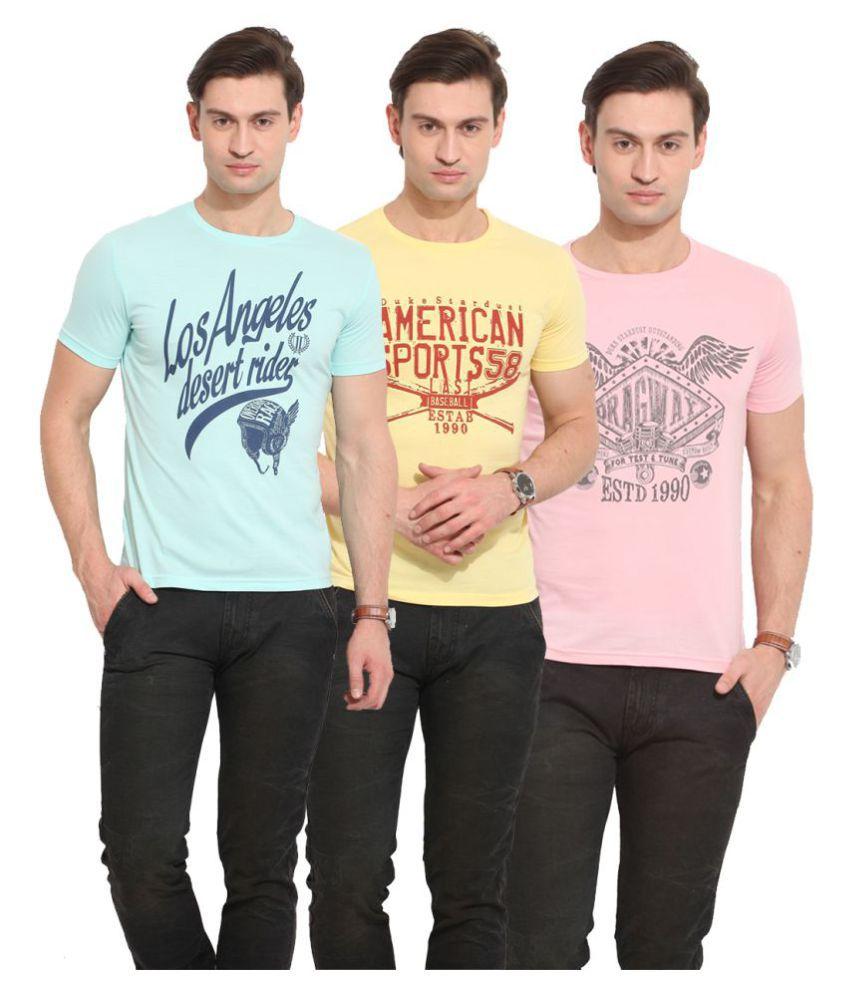 Duke Multi Round T-Shirt Pack of 3