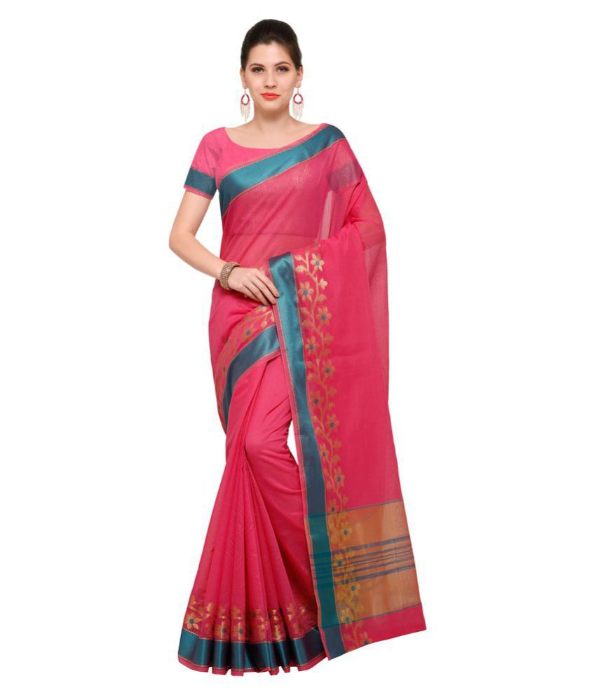 Saree Mall Pink Art Silk Saree