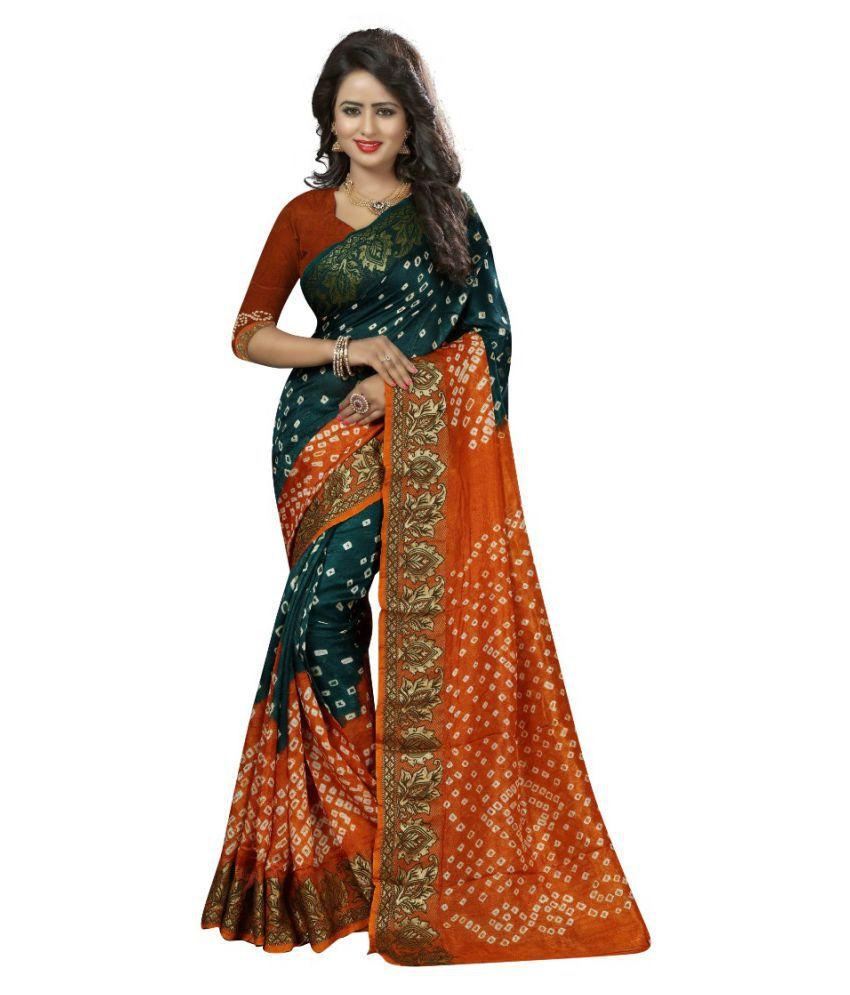 Vandvshop Multicoloured Cotton Silk Saree