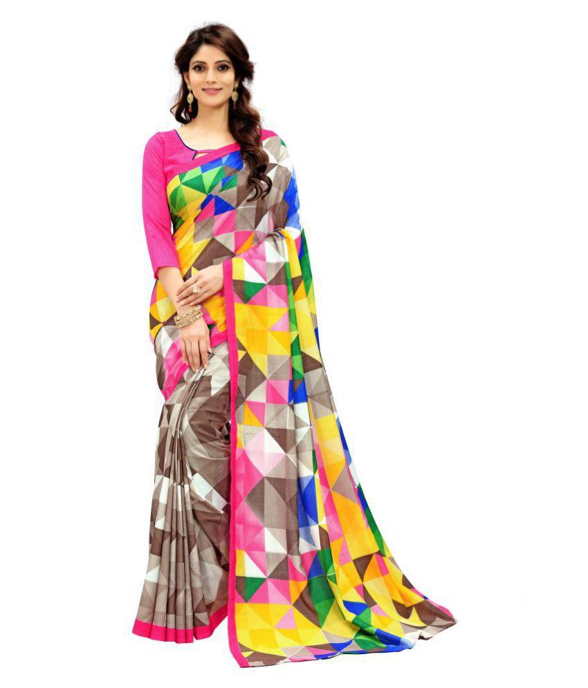Mannequin Store Multicoloured Art Silk Saree