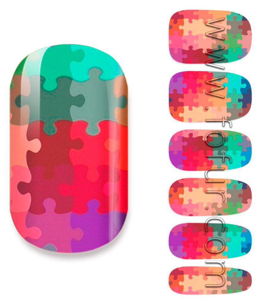 Fofur Puzzle Nail Art Stickers 1 no.s: Buy Fofur Puzzle Nail Art ...
