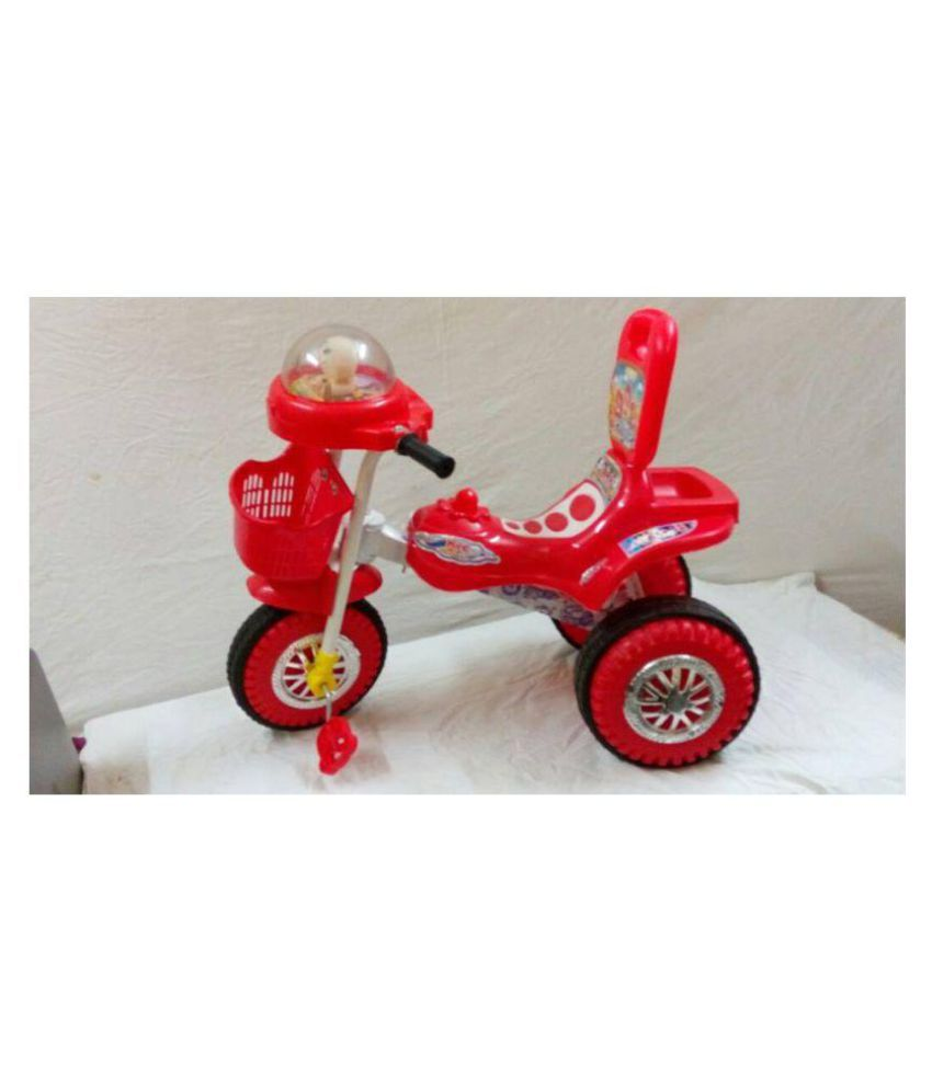 ace27b9d394 Chinar Three wheeler kids bicycle with musical hood Suitable for 2years to  4years kids-Red - Buy Chinar Three wheeler kids bicycle with musical hood  ...