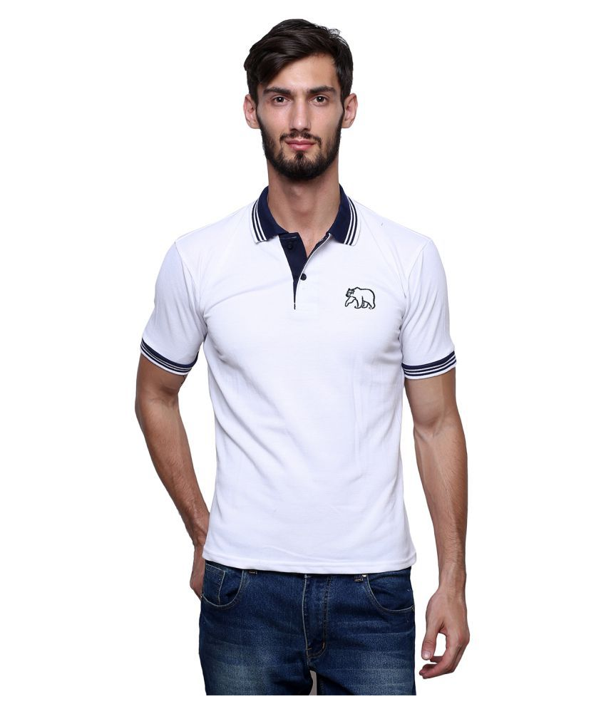 Grand Bear White V-Neck T-Shirt
