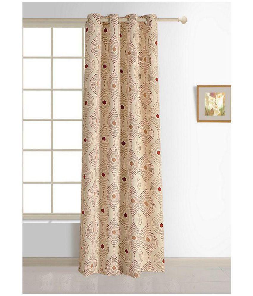 Swayam Single Window Eyelet Curtains Geometrical Off White