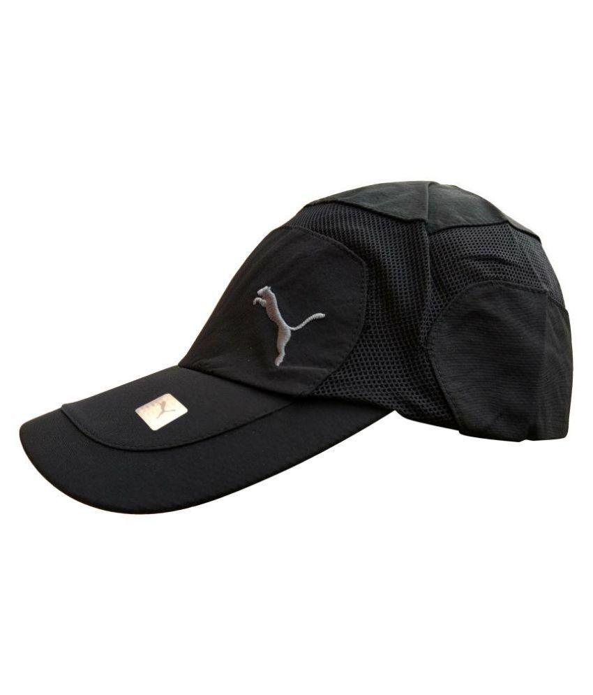 Puma Black Fabric Caps