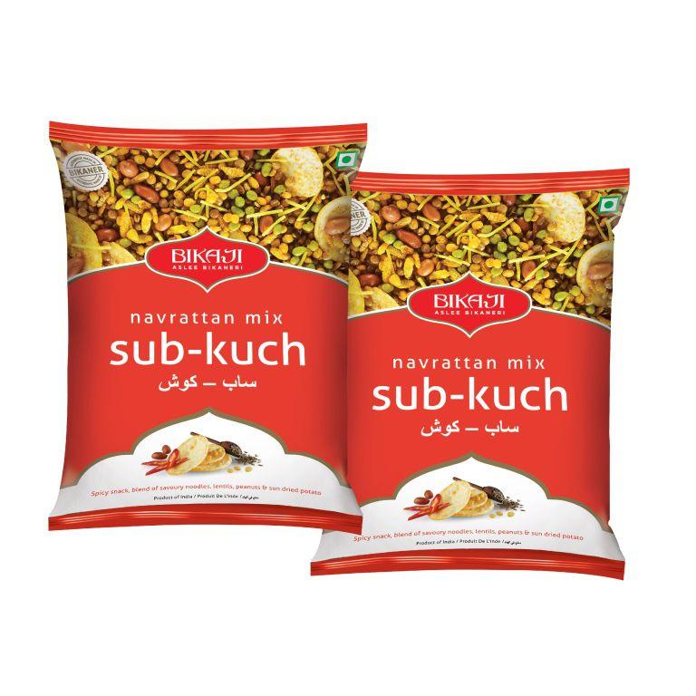 bikaji foods sab kuch navratna mixture pack of 2 x 400gm