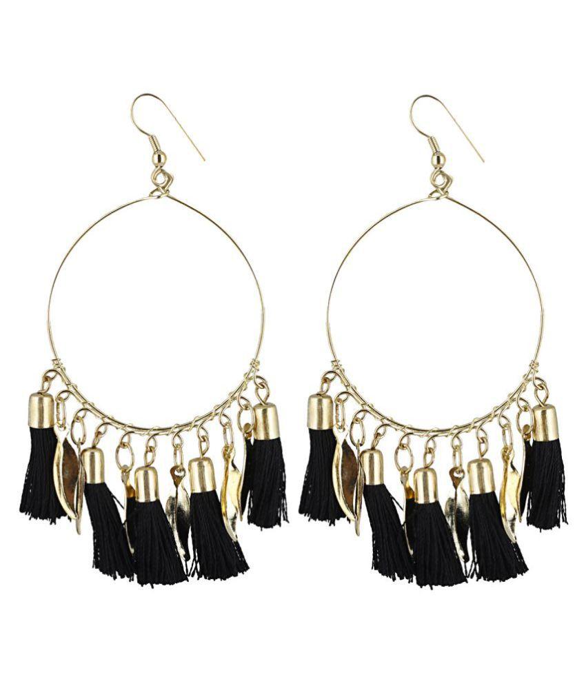 Aradhya Designer Light Weight Black Bali Style tassel Earrings for ...