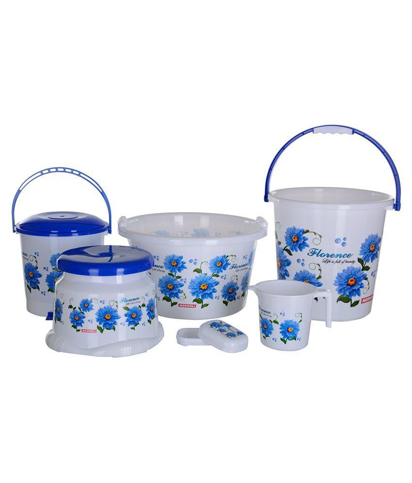 Modwell Length In Meter Plastic Bathroom Bucket Set