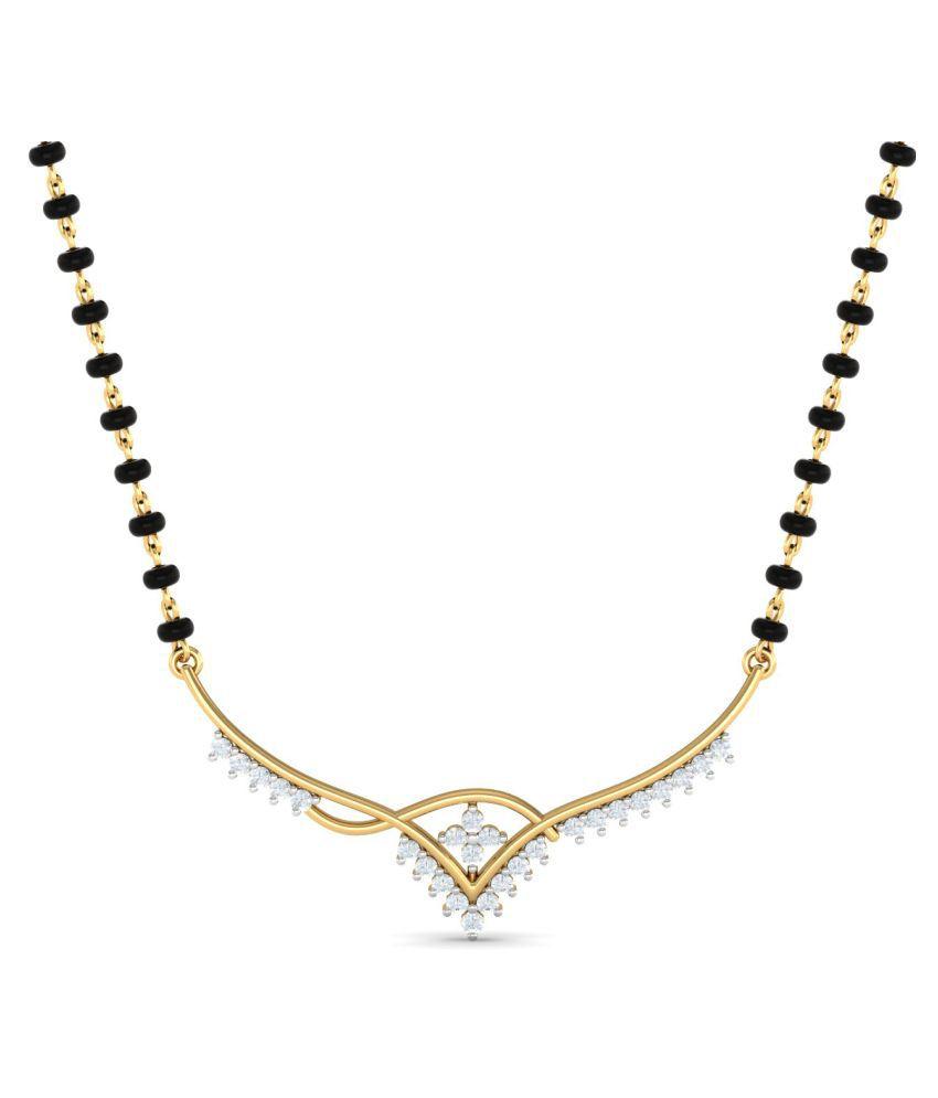 Jewelsnext 18k Yellow Gold Diamond Mangalsutra