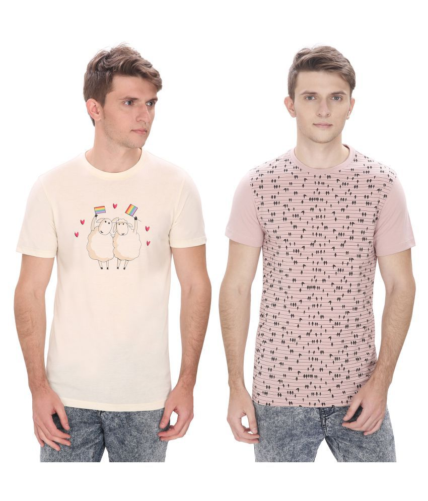 Atlaa Batlaa Multi Round T-Shirt