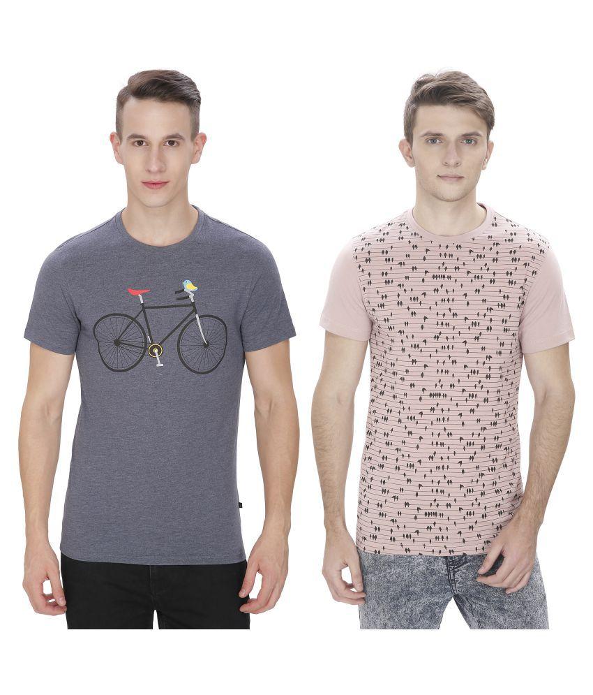 Atlaa Batlaa Multi Round T-Shirt