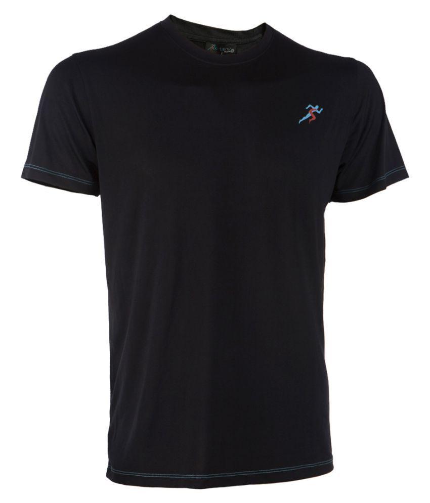 SPORTSNU Black Polyester T-Shirt Single Pack