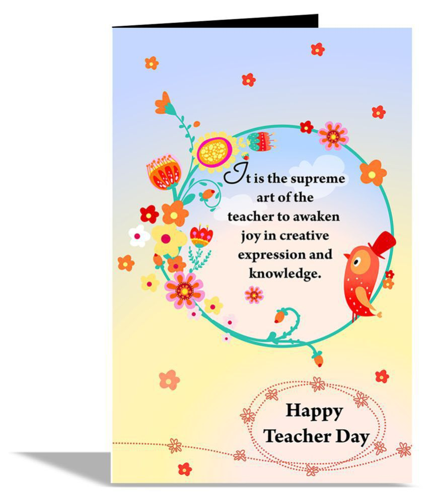 Happy teacher day greeting card buy online at best price in india happy teacher day greeting card kristyandbryce Choice Image