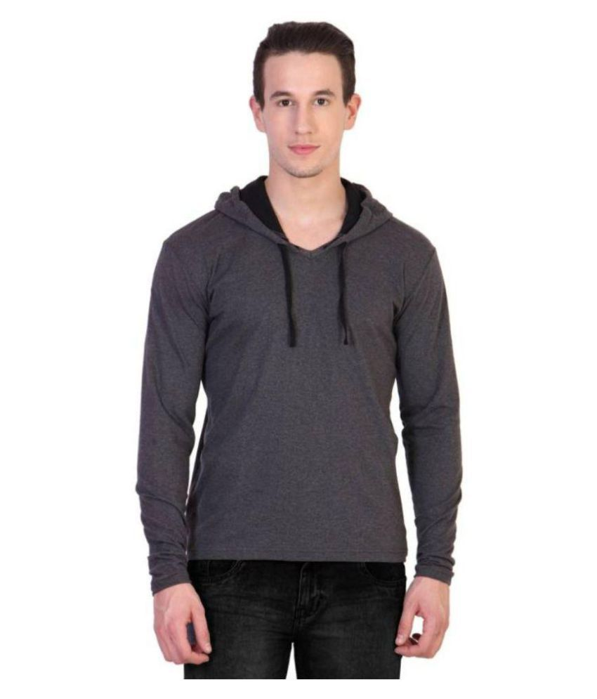 oovs Grey Hooded T-Shirt