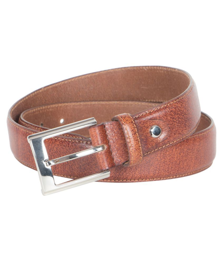 Tony Brown Tan Leather Casual Belts