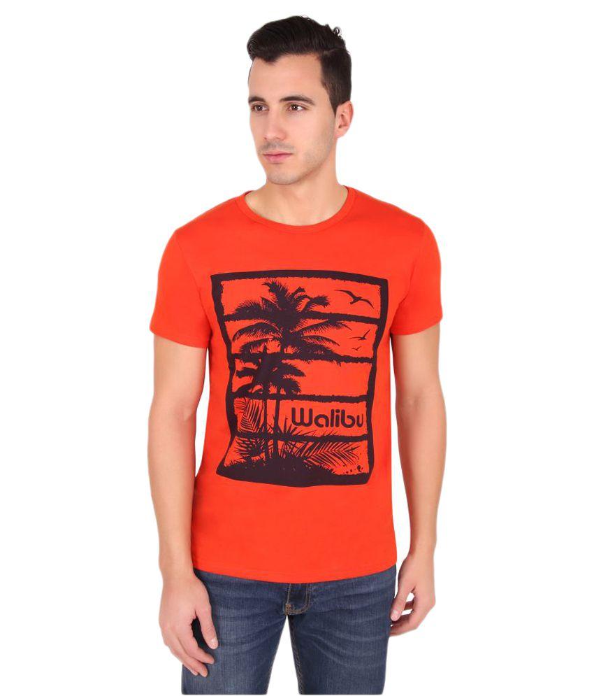 Druthers Orange Round T-Shirt