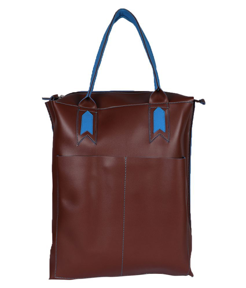 Harp Brown Faux Leather Handheld