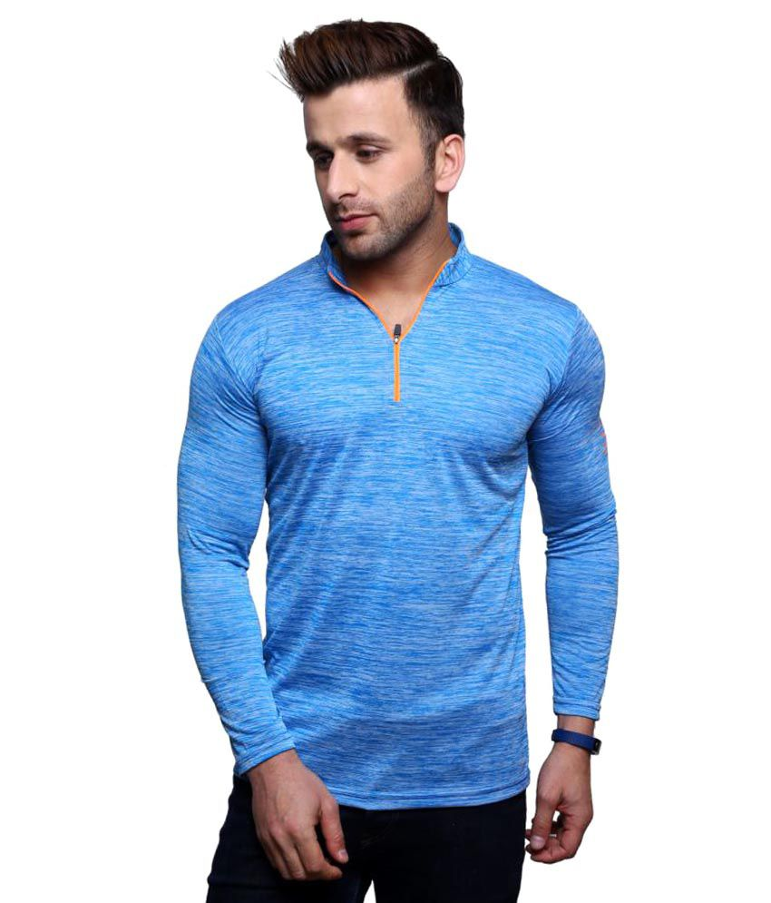 Rakshita's Collection Turquoise High Neck T-Shirt