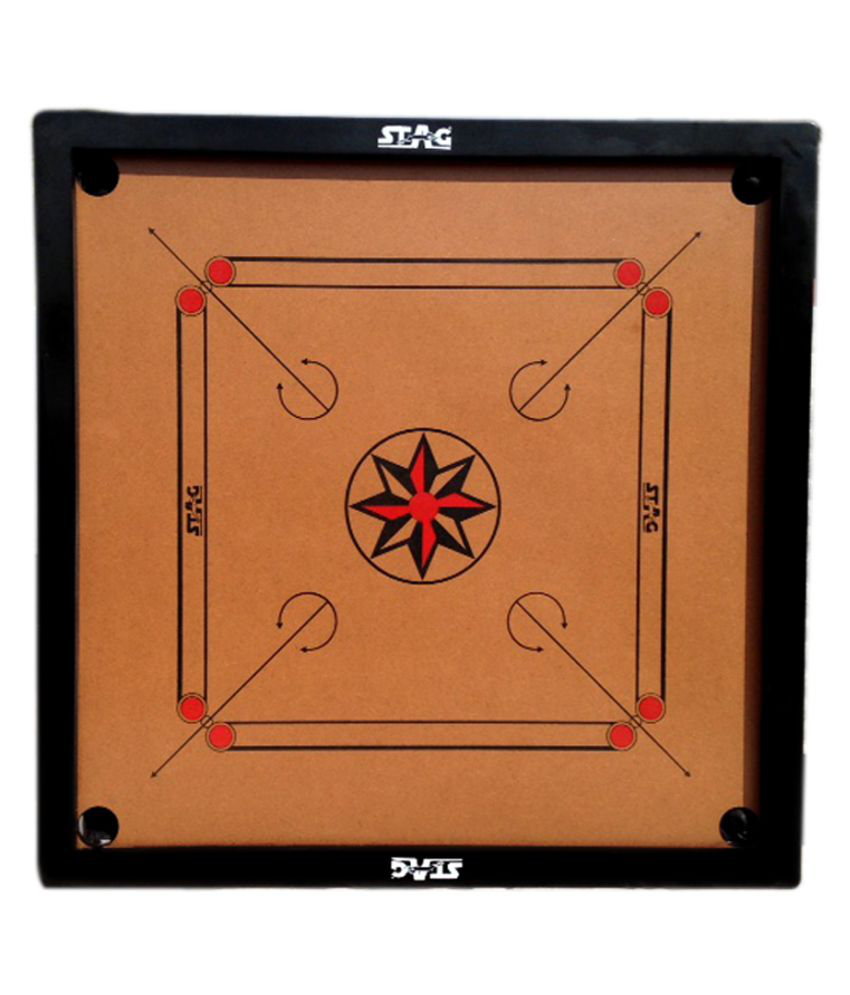 Stag Wooden Black Carrom One Size