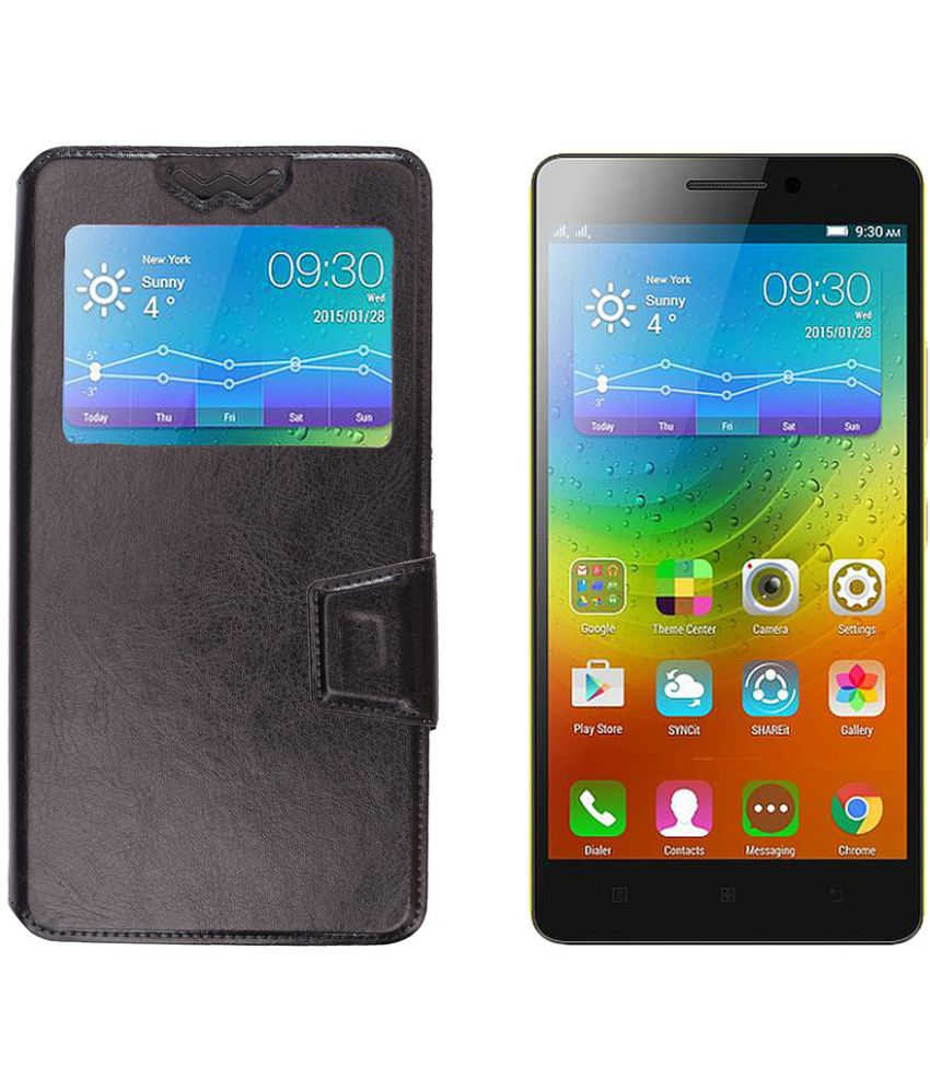 watch acf22 3c7e0 Micromax Canvas Doodle 4 Q391 Flip Cover by Shopme - Black