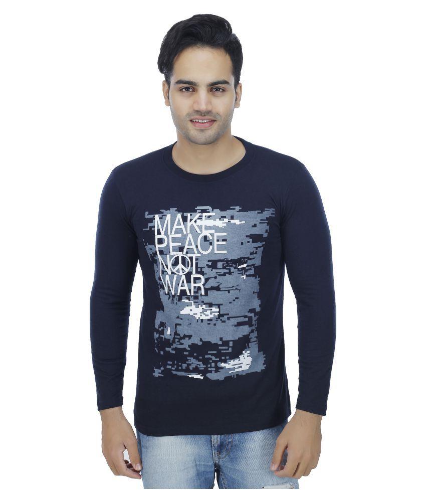 Darwin Navy Round T-Shirt