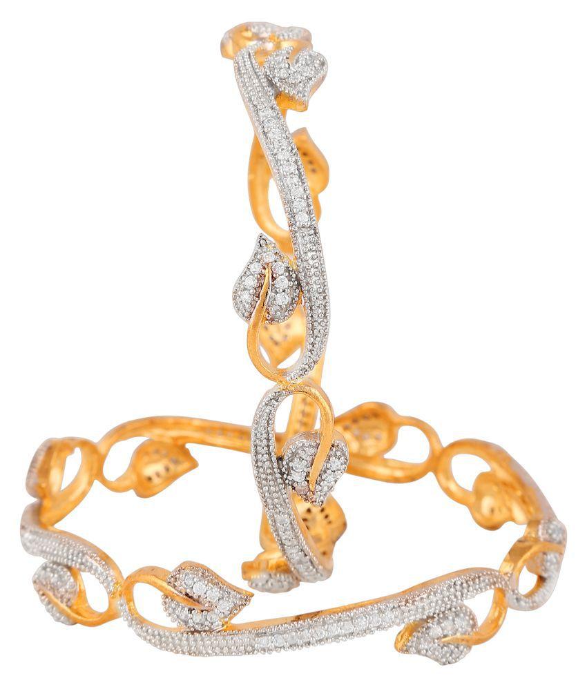 Aditri Gold Plated Designer Pair of Bangles