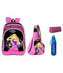 Sara School Bag with Cross Bag, Water Bottle and Pouch