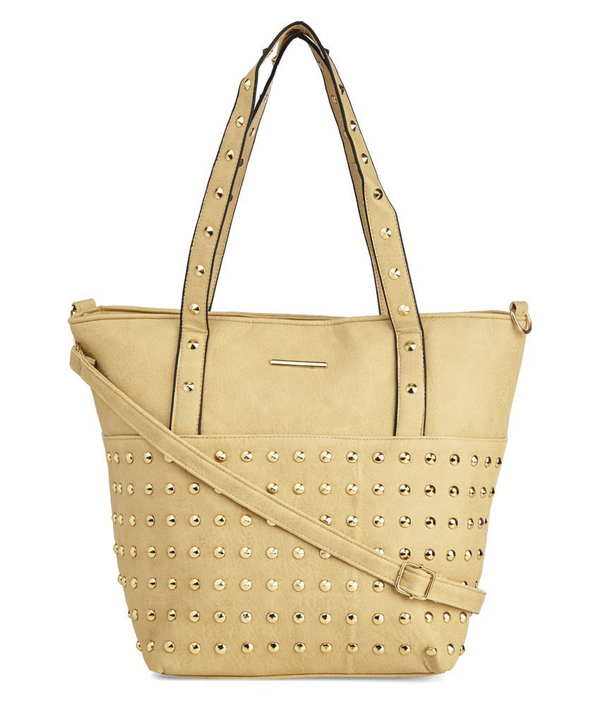 Vero Couture Beige P.U. Tote Bag